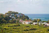 small coastal village, North of Martinique, overseas region of France, French Island, Caribbean Sea