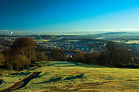 Barrhead and Glasgow from Fereneze Braes, Barrhead, East Renfrewshire