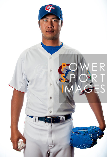 Lin, Yi-Hao of Team Chinese Taipei poses during WBC Photo Day on February 25, 2013 in Taichung, Taiwan. Photo by Victor Fraile / The Power of Sport Images