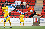 St Johnstone v Eskisehirspor...26.07.12  Europa League Qualifyer.Gregory Tade scores for saints.Picture by Graeme Hart..Copyright Perthshire Picture Agency.Tel: 01738 623350  Mobile: 07990 594431