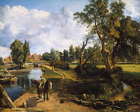 John Constable:  Scene on a Navigable River.  Flatford Mill. 1816-1817.  Tate Gallery.  Reference only.