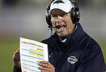 Nevada Head Coach Chris Ault talks to an official during the second half of an NCAA college football game in Reno, Nev., on Saturday, Nov. 10, 2012. Fresno State defeated Nevada 52-36.(AP Photo/Cathleen Allison)