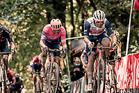 Mads Pedersen (DEN/Trek-Segafredo) in the final ascent up the Kemmelberg<br /> <br /> 82nd Gent-Wevelgem in Flanders Fields 2020 (1.UWT)<br /> 1 day race from Ieper to Wevelgem (232km)<br /> <br /> ©kramon