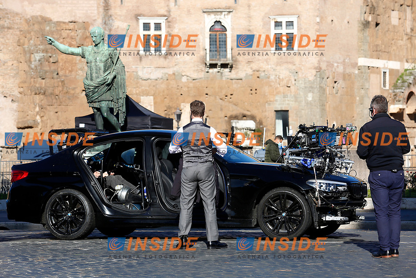 Actor Tom Cruise on the set of the film Mission Impossible 7 at Imperial Fora in Rome. <br /> Rome (Italy), November 21st 2020<br /> Photo Samantha Zucchi Insidefoto