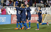 Cary, N.C. - Tuesday March 27, 2018: Bobby Wood, USMNT goal celebration during an International friendly game between the men's national teams of the United States (USA) and Paraguay (PAR) at Sahlen's Stadium at WakeMed Soccer Park.