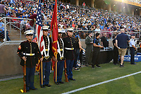 STANFORD, CA - JUNE 29: Color Guard during a Major League Soccer (MLS) match between the San Jose Earthquakes and the LA Galaxy on June 29, 2019 at Stanford Stadium in Stanford, California.