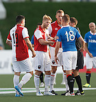 Tempers flare as Kenny Miller gets rounded on by furious Fury fellows.