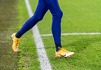 BREDA, NETHERLANDS - NOVEMBER 27: Christen Press #23 of the USWNT steps onto the field before a game between Netherlands and USWNT at Rat Verlegh Stadion on November 27, 2020 in Breda, Netherlands.