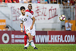 Alsamarneh Obida of Jordan in action during the International Friendly match between Hong Kong and Jordan at Mongkok Stadium on June 7, 2017 in Hong Kong, China. Photo by Marcio Rodrigo Machado / Power Sport Images