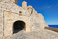 The main gate of the Byzantine castle-town of Monemvasia in Greece
