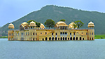 The Jal Mahal Water Palace located in Mansagar Lake in Jaipur, India.