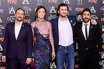 Luis Callejo, Ruth Diaz, Raul Arevalo and Raul Jimenez attends to the 2017 Goya Awards Candidates Cocktail at Ritz Hotel in Madrid, Spain. January 12, 2017. (ALTERPHOTOS/BorjaB.Hojas)