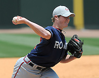 May 18, 2009: RHP Craig Kimbrell (28) of the Rome Braves, the No. 10 prospect of the Atlanta Braves, in a game against the Greenville Drive at Fluor Field at the West End in Greenville, S.C. Photo by: Tom Priddy/Four Seam Images