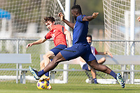 BRADENTON, FL - JANUARY 23: Sam Vines, Daryl Dike battle for a ball during a training session at IMG Academy on January 23, 2021 in Bradenton, Florida.