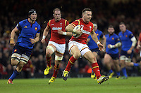 Gareth Davies of Wales (R) during the Wales v France, 2016 RBS 6 Nations Championship, at the Principality Stadium, Cardiff, Wales, UK