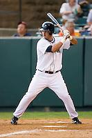 First baseman Kris Sanchez (25) of the Pulaski Mariners at bat at Calfee Field in Pulaski, VA, Sunday July 6, 2008. (Photo by Brian Westerholt / Four Seam Images)
