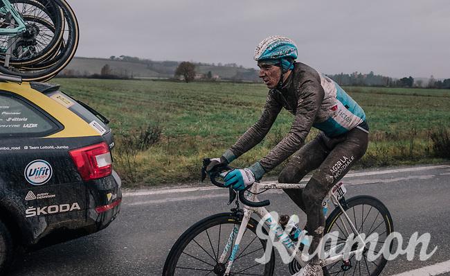 Romain Bardet (FRA/AG2R-La Mondiale) returning to the peloton<br /> <br /> 12th Strade Bianche 2018<br /> Siena > Siena: 184km (ITALY)