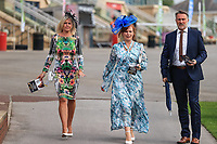 9th September 2021; Doncaster Racecourse, Doncaster, South Yorkshire, England;   St Leger Ladies Day; Ladys  enjoying the event at Doncaster Racecourse