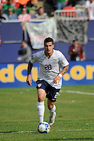 Santino Quaranta (20) of the United States (USA). Mexico (MEX) defeated the United States (USA) 5-0 during the finals of the CONCACAF Gold Cup at Giants Stadium in East Rutherford, NJ, on July 26, 2009.