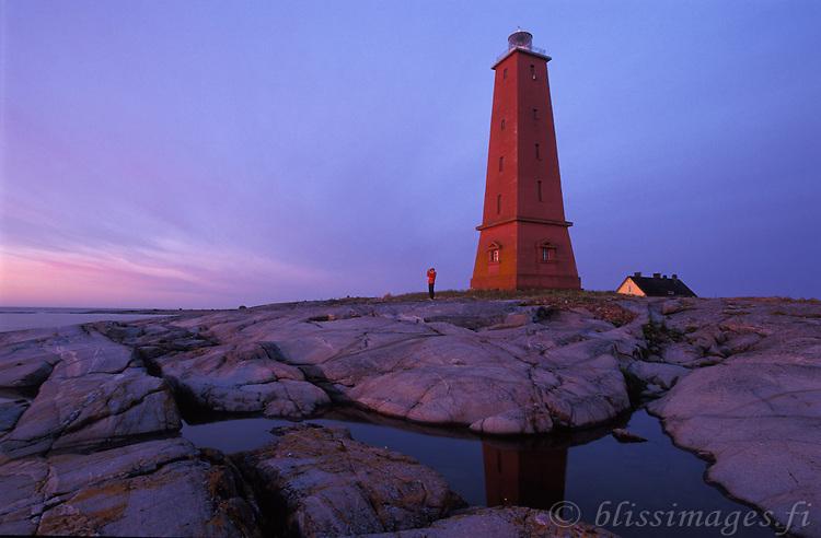 Sunrise at Lågskär Lighthouse, Åland