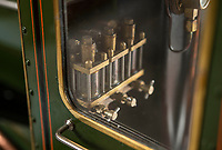 BNPS.co.uk (01202 558833)<br /> Pic: PhilYeomans/BNPS<br /> <br /> The scaled down guages and controls all still function.<br /> <br /> Mini marvel - exact scale model of legendary Great Western steam train is chuffing into auction.<br /> <br /> A remarkably detailed model train which produces steam and runs like the real thing has emerged for sale for £80,000.<br /> <br /> The 9ft long, 7.25ins gauge model is a scale replica of the Great Western Railway locomotive 'King Richard I'.<br /> <br /> It has a copper boiler with its own miniature pressure gauge and is fitted with brakes, lamps and a water tank.<br /> <br /> There are removable foot rests attached and such is the attention to detail the driver has a padded seat.<br /> <br /> The locomotive was built by a Manchester based model maker who is now selling it at auction.