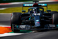 4th September 2020; Autodromo Nazionale Monza, Monza, Italy ; Formula 1 Grand Prix of Italy, free practise sessions;  44 Lewis Hamilton GBR, Mercedes-AMG Petronas Formula One Team over the curbs