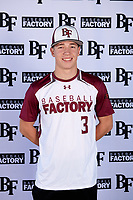 Nate Vargo (3) of Penn High School in Granger, Indiana during the Baseball Factory All-America Pre-Season Tournament, powered by Under Armour, on January 12, 2018 at Sloan Park Complex in Mesa, Arizona.  (Mike Janes/Four Seam Images)
