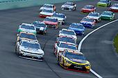 #20: Christopher Bell, Joe Gibbs Racing, Toyota Camry GameStop Transformers and #42: John Hunter Nemechek, Chip Ganassi Racing, Chevrolet Camaro Fire Alarm Services, Inc.