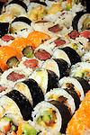 A sushi spread at the World Energy Cities Partnership reception at the Hotel ZaZa Tuesday May 1,2012. (Dave Rossman Photo)