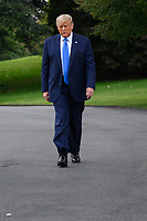 United States President Donald J. Trump walks to the South Lawn of the White House before boarding Marine One in Washington, D.C., U.S., on Thursday, September 24, 2020. <br /> CAP/MPI/RS<br /> ©RS/MPI/Capital Pictures