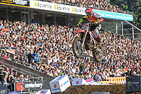 Josiah Natzke (NZ)<br /> 2018 SX Open - Auckland / SX 2<br /> FIM Oceania Supercross Championships<br /> Mt Smart Stadium / Auckland NZ<br /> Saturday Nov 24th 2018<br /> © Sport the library/ Jeff Crow / AME