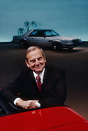 December 1980, Michigan, USA. American President of the Chrysler automobile company, Lee Iacocca.