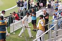 NZ's Henry Nicholls and Kane Williamson during day three of the second International Test Cricket match between the New Zealand Black Caps and Pakistan at Hagley Oval in Christchurch, New Zealand on Tuesday, 5 January 2021. Photo: Martin Hunter / lintottphoto.co.nz