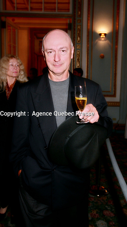 August 26, 1999, Montreal, Quebec, Canada<br /> File Photo of<br /> Film maker Percy Adlon attending the opening party of the World Film Festival .He was one of the Jury member of the Festival