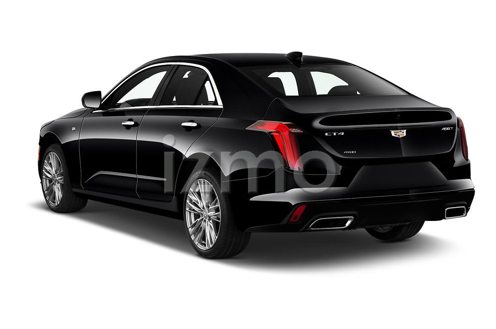 Car pictures of rear three quarter view of 2020 Cadillac CT4 Premium-Luxury 4 Door Sedan Angular Rear
