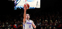 France's  Nando De Colo scores during European championship basketball match for third place between France and Serbia on September 20, 2015 in Lille, France  (credit image & photo: Pedja Milosavljevic / STARSPORT)