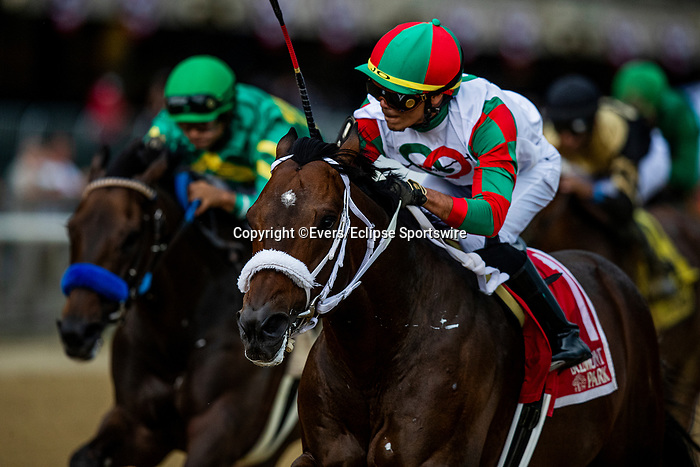 June 4, 2021:  Firenze Fire with Jose Ortiz aboard wins The True North Stakes at Belmont Park in Elmont, New York on June 4, 2021. Evers/Eclipse Sportswire/CSM