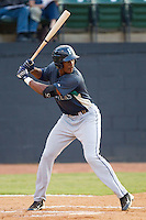 Jabari Blash #17 of the Pulaski Mariners at bat against the Bristol White Sox at Boyce Cox Field August 28, 2010, in Bristol, Tennessee.  Photo by Brian Westerholt / Four Seam Images