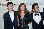 08.10.2012. The film team attends the premiere of Kinepolis Cinema in Madrid of the movie 'The Impossible'. Directed by Juan Antonio Bayona and starring by  Naomi Watts and Tom Holland. In the image (L-R) Tom Holland, Marta Etura and Juan Antonio Bayona (Alterphotos/Marta Gonzalez)