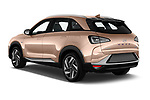 Car pictures of rear three quarter view of 2019 Hyundai Nexo Limited 5 Door SUV Angular Rear