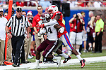 Texas A&M Aggies wide receiver Malcome Kennedy (84) in action during the game between the Texas A&M Aggies and the SMU Mustangs at the Gerald J. Ford Stadium in Fort Worth, Texas. A&M leads SMU 38 to 3 at halftime.