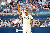 KANSAS CITY, KS - JUNE 26: Eddie Segura #4 Los Angeles FC during a game between Los Angeles FC and Sporting Kansas City at Children's Mercy Park on June 26, 2021 in Kansas City, Kansas.