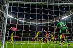 Diego Roberto Godin Leal of Atletico de Madrid heads the ball during the La Liga 2017-18 match between Atletico de Madrid and Villarreal CF at Wanda Metropolitano  on October 28 2017 in Madrid, Spain. Photo by Diego Gonzalez / Power Sport Images