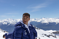 CRANS-MONTANA, SWITZERLAND - MAY 28: Tyler Adams of the United States at Pointe de la Plaine Morte on May 28, 2021 in Crans-Montana, Switzerland.