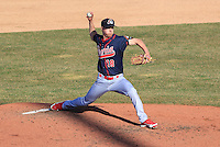 Peoria Chiefs pitcher Blake McKnight (18) delivers a pitch during a game against the Wisconsin Timber Rattlers on April 12th, 2015 at Fox Cities Stadium in Appleton, Wisconsin.  Peoria defeated Wisconsin 11-1.  (Brad Krause/Four Seam Images)