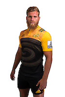 Brad Shields. Hurricanes Super Rugby official headshots at Rugby League Park, Wellington, New Zealand on Wednesday, 6 January 2016. Photo: Dave Lintott / lintottphoto.co.nz
