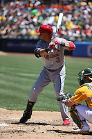 OAKLAND, CA - JUNE 29:  Carlos Beltran #3 of the St. Louis Cardinals bats against the Oakland Athletics during the game at O.co Coliseum on Saturday June 29, 2013 in Oakland, California. Photo by Brad Mangin