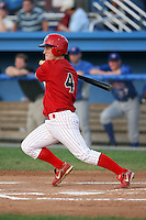 August 7 2008:  Brett Lilley of the Batavia Muckdogs, Class-A affiliate of the St. Louis Cardinals, during a game at Dwyer Stadium in Batavia, NY.  Photo by:  Mike Janes/Four Seam Images
