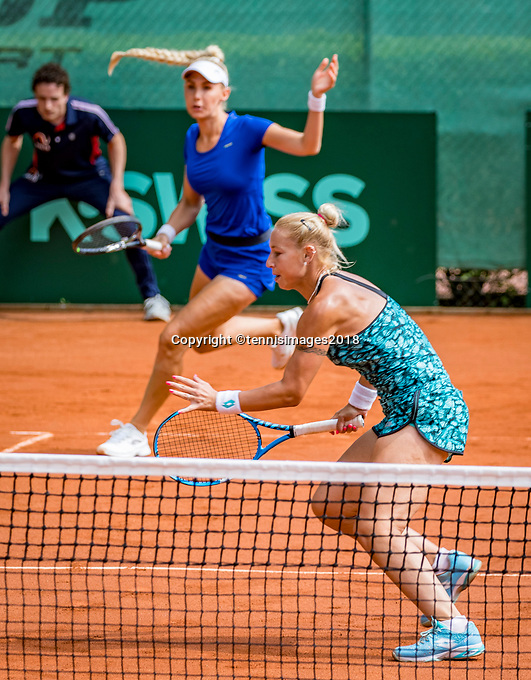 The Hague, Netherlands, 09 June, 2018, Tennis, Play-Offs Competition, Womans doubles: Tereza Mrdeza  and Sarah Gronert (background)<br /> Photo: Henk Koster/tennisimages.com