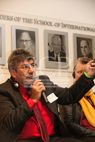 Washington DC, USA. Chico Vive conference, 4th April 2014. Conference speaker Gomercindo Rodrigues, Brazil.